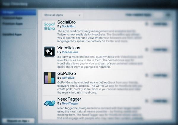 Hootsuite Apps - Social Bro - Videolicious - GoPollGo - NeedTagger // WhichSocialMedia