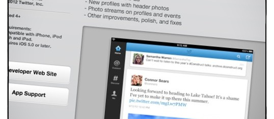 New Twitter App for iPad – available in an iTunes store near you!