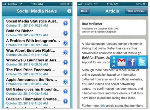 Social Media News Screenshot