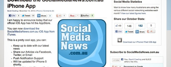 Social Media News IOS app now available for download