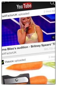 YouTube app for iPhone // WhichSocialMedia.com